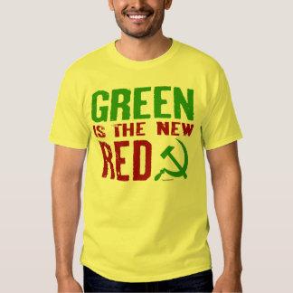 El verde es el nuevo camisetas rojo playeras