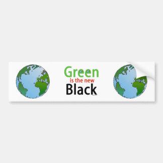 El verde es el nuevo negro pegatina para auto