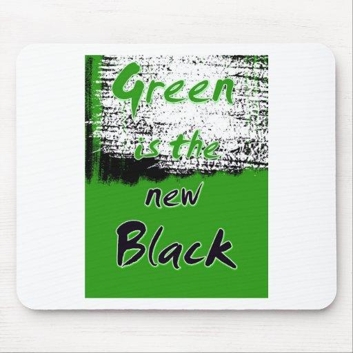 El verde es el nuevo negro tapete de ratones