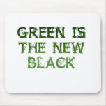 El verde es el nuevo negro tapetes de raton