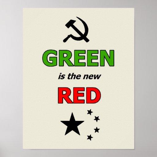 El verde es el nuevo poster rojo póster