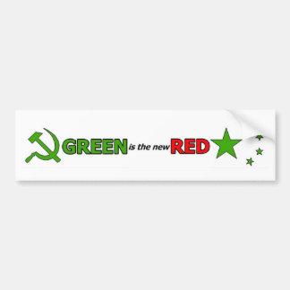 El verde es el nuevo rojo etiqueta de parachoque