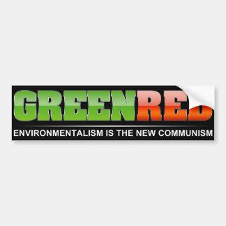 El verde es el nuevo rojo pegatina para auto