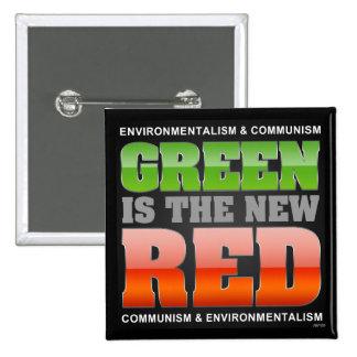 El verde es el nuevo rojo pins