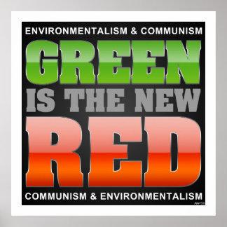 El verde es el nuevo rojo póster