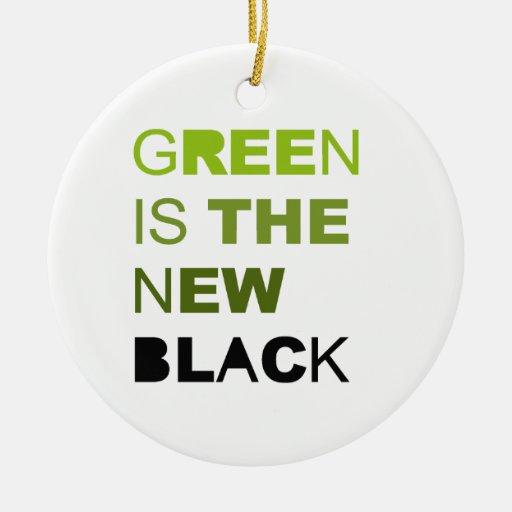 El verde es el nuevo sólido negro ornamento de reyes magos