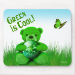 ¡El verde es fresco! Mousepad Tapete De Ratón