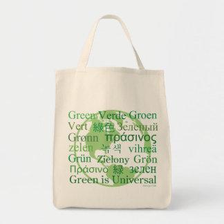 El verde es la bolsa de asas orgánica universal