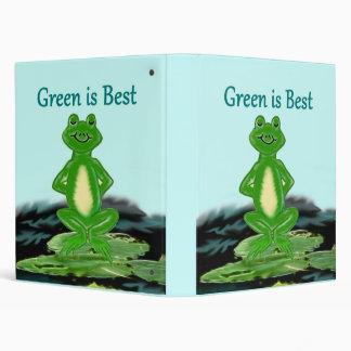 El verde es la mejor carpeta de la rana