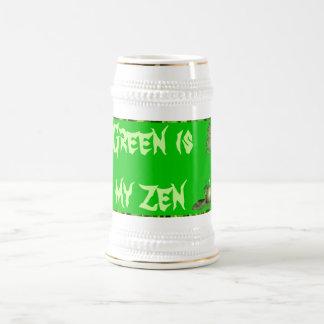 el verde es mi stein del zen taza