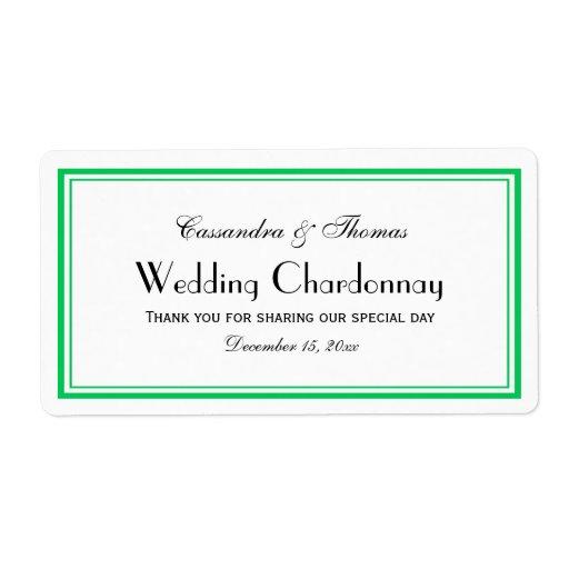 El verde esmeralda elegante enmarcó la etiqueta de etiqueta de envío