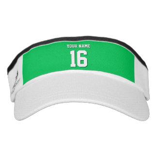 El verde esmeralda se divierte el jersey de equipo visera