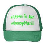 El verde está prendido. en holandés gorro de camionero
