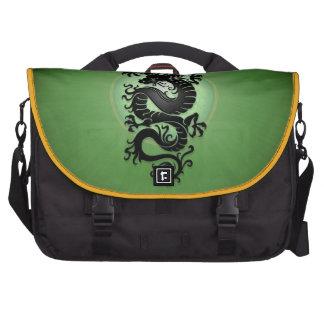 El verde estalló el dragón chino bolsa de ordenador