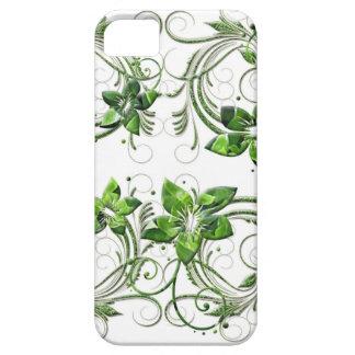 El verde florece la caja del iPhone 5/5S del iPhone 5 Funda