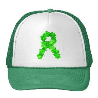 El verde florece la cinta gorro