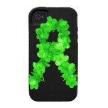 El verde florece la cinta iPhone 4 fundas