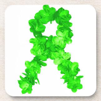 El verde florece la cinta posavasos de bebidas