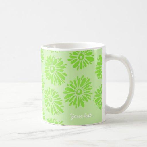 El verde florece la taza verde