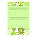 El verde florece los efectos de escritorio papeleria personalizada