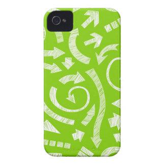 El verde garabateó a flechas Blackberry el caso iPhone 4 Coberturas
