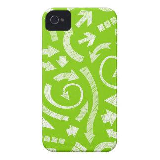 El verde garabateó el caso del iPhone 4/4S de las Case-Mate iPhone 4 Coberturas