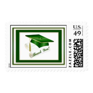 El verde graduado le agradece sello
