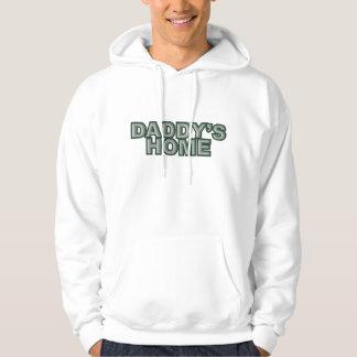 El verde gris casero del papá sudadera encapuchada