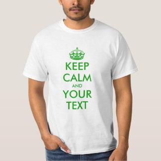 El verde guarda la camiseta tranquila el | para