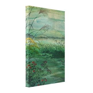 El verde, hierba verde del hogar impresion de lienzo