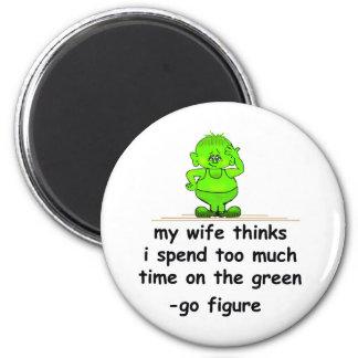 El verde iman de nevera