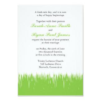 """El verde inspiró el boda invitación 5"""" x 7"""""""