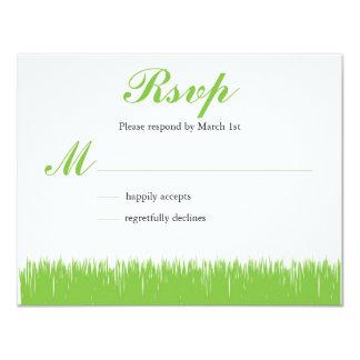 """El verde inspiró RSVP Invitación 4.25"""" X 5.5"""""""