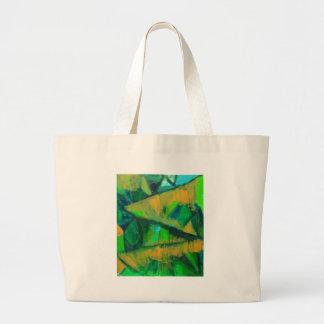 El verde intrépido se va (el modelo natural abstra bolsas de mano