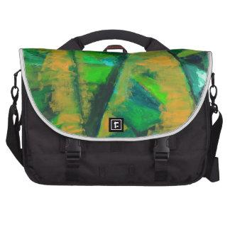 El verde intrépido se va (el modelo natural abstra bolsas de ordenador