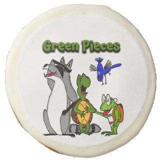 El verde junta las piezas de las galletas