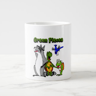 El verde junta las piezas del jumbo taza de 20 taza grande