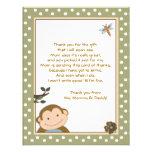 El verde lindo/Brown del mono le agradece las tarj Invitación Personalizada