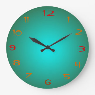 El verde llano/la aguamarina iluminó los relojes