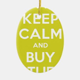 El verde mantiene tranquilo y compra materia adorno navideño ovalado de cerámica