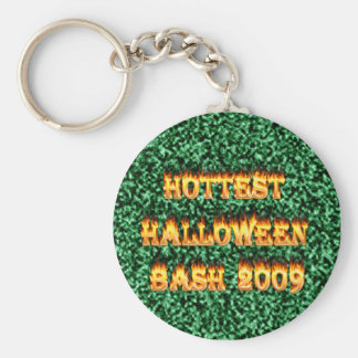 El verde más caliente del golpe 2009 de Halloween Llaveros