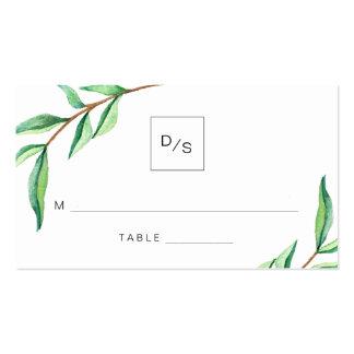 El verde minimalista deja tarjetas del tarjetas de visita