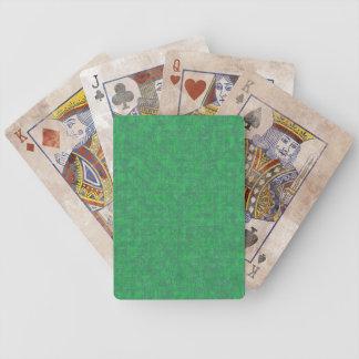 El verde modela naipes cartas de juego