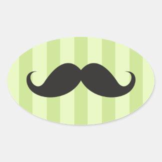 El verde negro del bigote raya a los pegatinas div