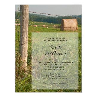 El verde pasta el boda del rancho del país invitaciones magnéticas
