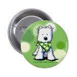 El verde puntea el Pin del perro de Westie