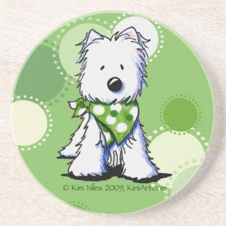 El verde puntea el práctico de costa del perro de  posavasos manualidades