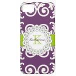 El verde púrpura del ciruelo femenino remolina est iPhone 5 Case-Mate cobertura