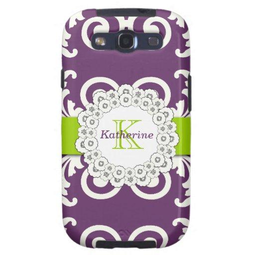 El verde púrpura del ciruelo femenino remolina est galaxy SIII cárcasas