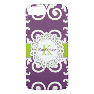 El verde púrpura del ciruelo femenino remolina funda iPhone 7